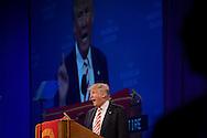 Republican presidential nominee Donald Trump addresses the National Convention of the American Legion in Cincinnati, Ohio, U.S., September 1, 2016. REUTERS/Bryan Woolston