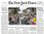 "THE NEW YORK TIMES. ""Oil Cash Waning, Venezuelan Shelves Lie Bare"". A1. By William Neuman. January 30, 2015."