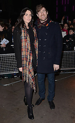 Guest and David Hunter attend The 10th What's On Stage Awards at The Prince Of Wales Theatre, London on Sunday 15  February 2015