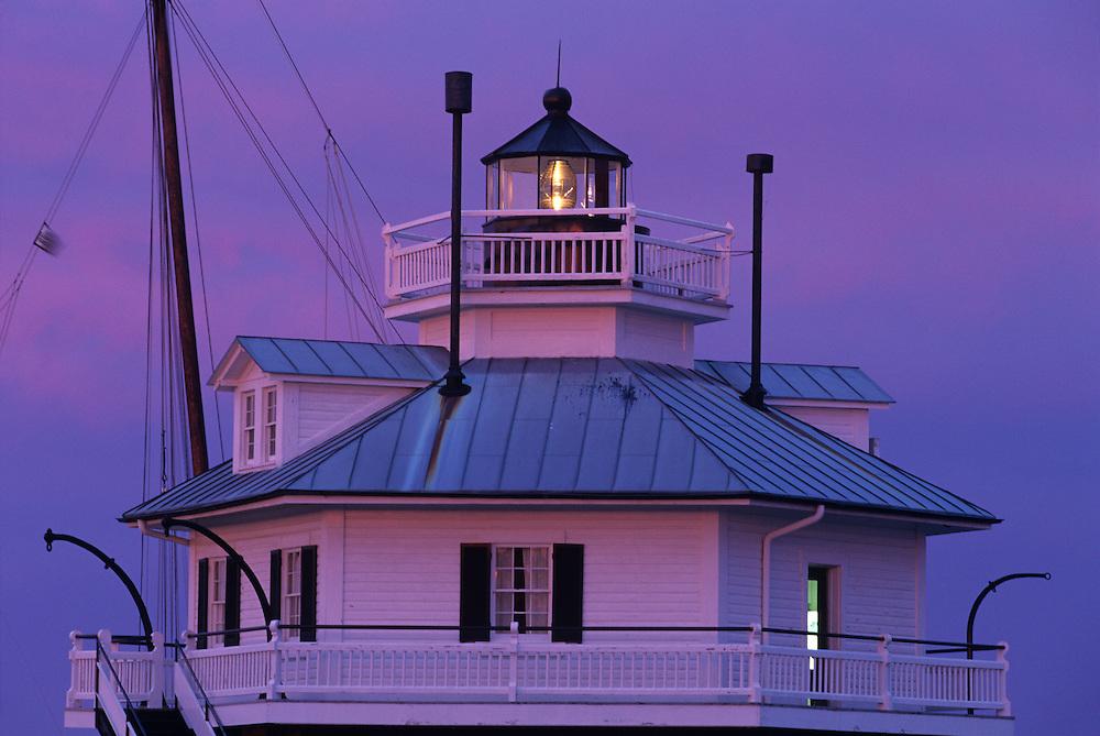 USA, Maryland, Saint Michaels, Hooper Strait Lighthouse now houses Chesapeake Bay Maritime Museum