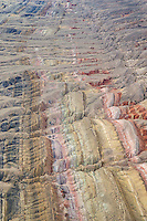 Sedimentary layers of the Sheep Mountain Anticline