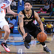 Erie BayHawks Guard Peyton Siva (9) drives past Delaware 87ers Forward Joonas Caven (24) in the second half of a NBA D-league regular season basketball game between the Delaware 87ers and the Erie BayHawk (Orlando Magic) Friday, Mar. 20, 2015 at The Bob Carpenter Sports Convocation Center in Newark, DEL.