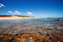 White sands and pindan hills line the beach front near Quandong Point, just to the south of James Price Point, 60km north of Broome.  The area is part of the proposed LNG gas processing hub on the Dampier Peninsular.