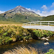 """Mount Egmont or Taranaki (2518 meters / 8261 feet) in Mount Egmont National Park, New Zealand, North Island. Featured as a stand-in for Mount Fuji in the Tom Cruise motion picture, """"The Last Samurai"""". Published in """"Light Travel: Photography on the Go"""" by Tom Dempsey 2009, 2010."""