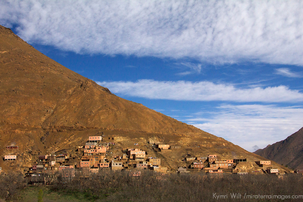 Africa, Morocco, Imlil. Berber village in Atlas Mountains.