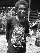 'Superhero' T-shirt fashion,  Vailala Block concession, Gulf Province, Papua New Guinea,