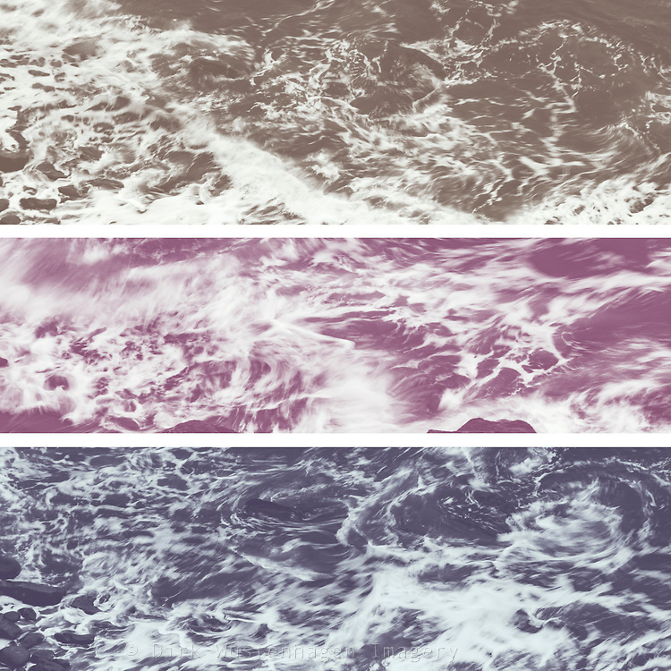 Tryptych of waves in motion - colored version<br /> Prints &amp; more: http://bit.ly/2b7Rc8M