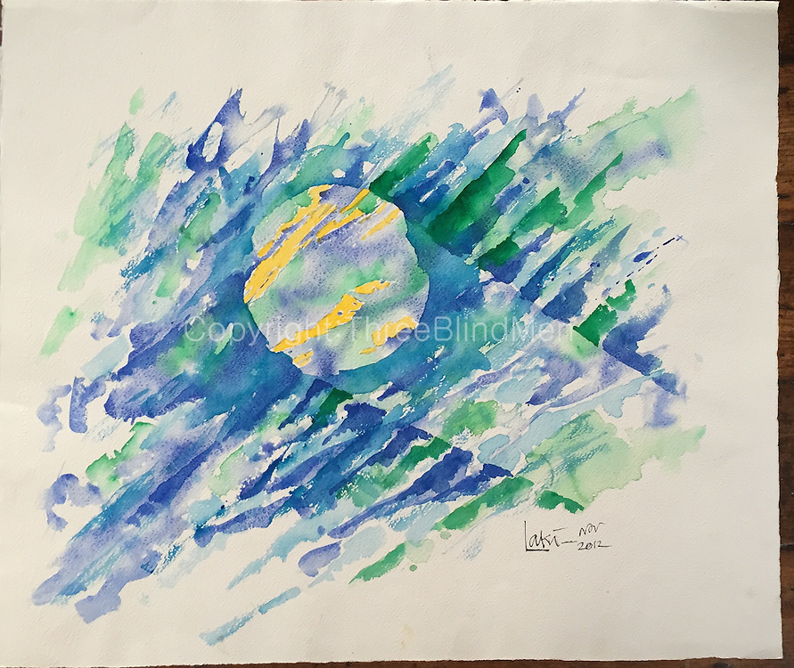 Laki. Moon Beam <br /> WC on paper.<br /> 24&quot; x 28&quot; 2012<br /> <br /> 300
