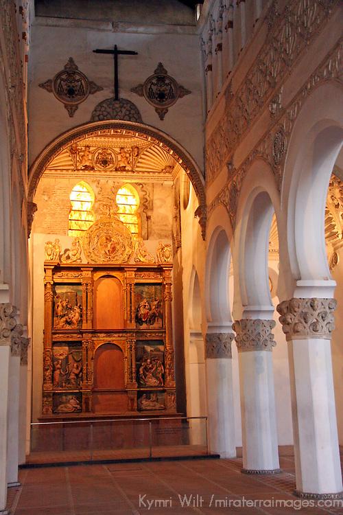 Europe, Spain, Toledo. Santa María la Blanca Synagogue.