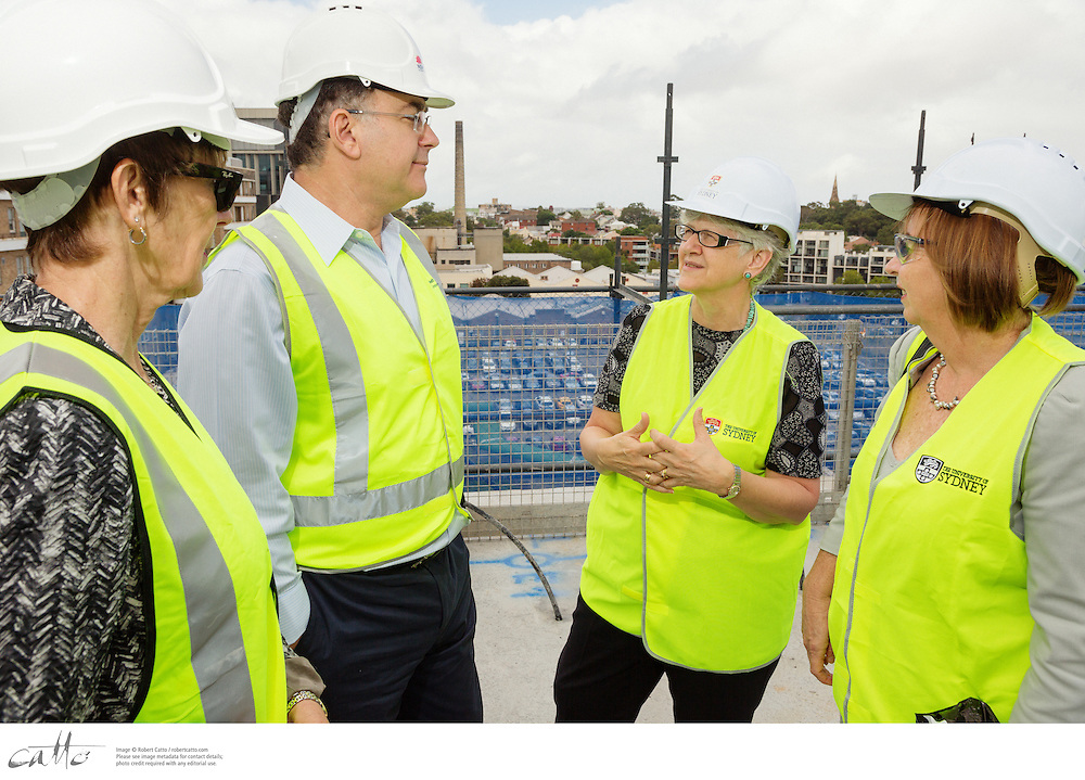Topping Out Ceremony for North West Precinct Building at Royal Prince Alfred Hospital, on Monday 17 February 2014.