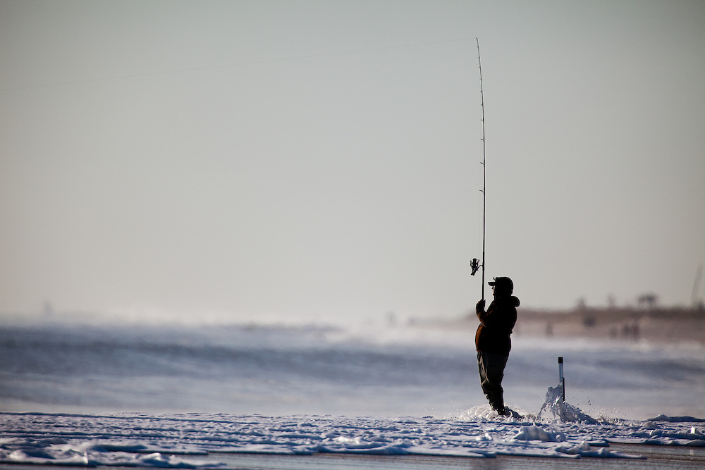 sandy hook surf fishing michael j treola photography