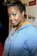 """Chrisette Michelle at The Hip Hop Research and Education Fund(HREF), PowerPAC and the HipHop Summit Action Network (HSAN) present the national """"HipHop Team Vote: Turn Up the Vote"""" campaign event held at Temple University's Liacouras Center Arena on April 20, 2008 ..The HipHop Team Voe: Turn up the Vote brings together hiphop stars and community activists to send a strong, clear message to 18-35 year olds about the importance of voting in the Pennsylvania primary and national presidential election."""
