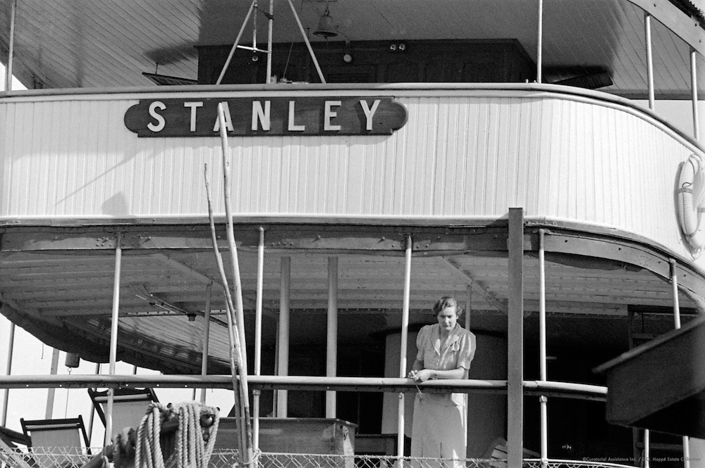 Ms. Tolley on Board SS Stanley, Victoria Nile, Uganda, Africa, 1937