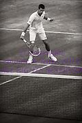 Novak Djokovic in a vintage styled photograph