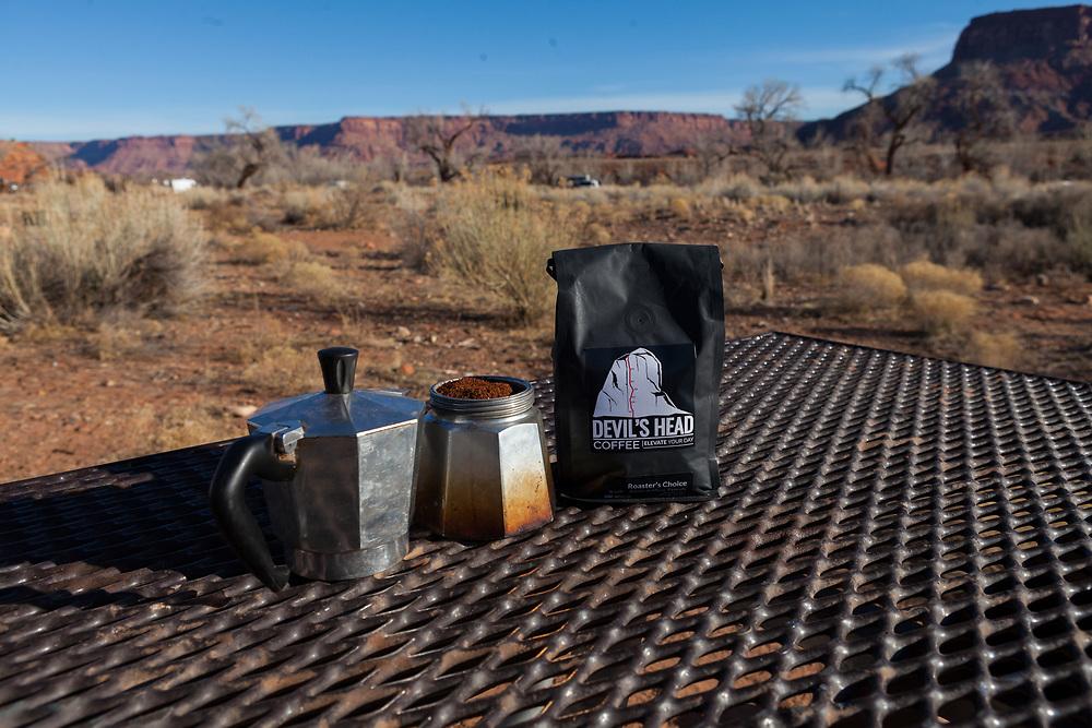 Devil's Head Coffee in the Desert