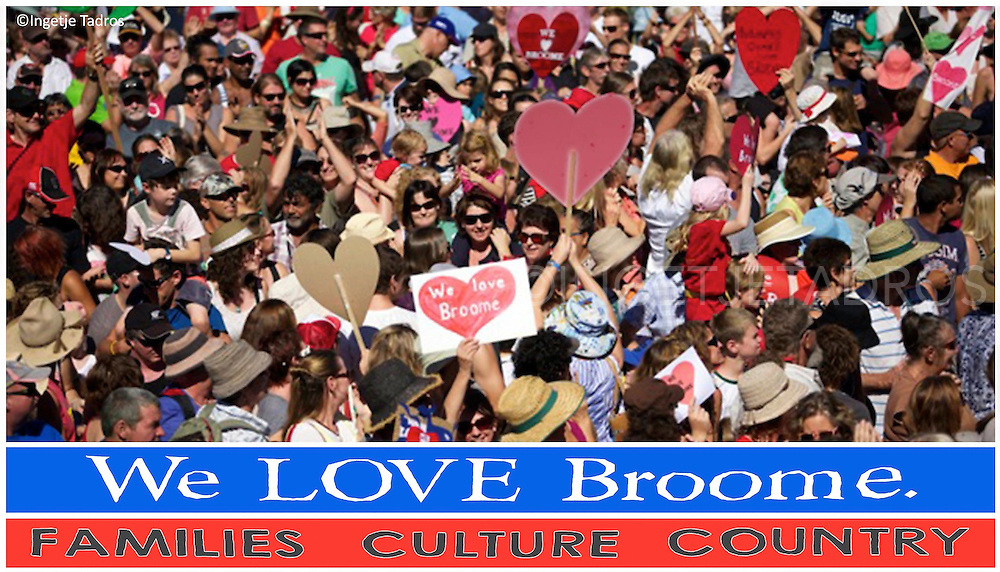 Postcard made for broome Families.<br /> &copy;Ingetje Tadros