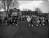 1960 - Pipe bands at Fairview Park, Dublin.