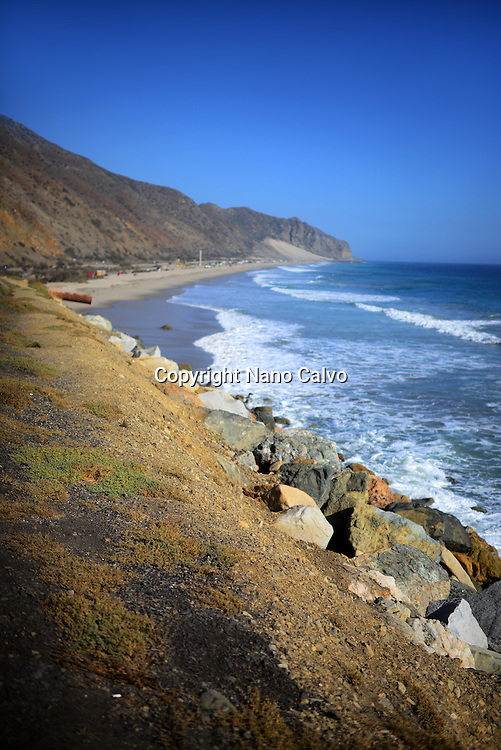 Coast of Malibu, California.