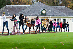 Miss Scotland Jennifer Reochs middle..The Miss World participants play golf at the world famous Gleneagles Hotel, host of The Ryder Cup 2014..MISS WORLD 2011 VISITS SCOTLAND..Pic © Michael Schofield.