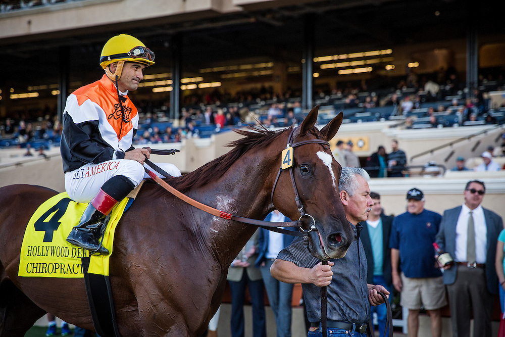 November 28, 2015:  Chiropractor with Corey Nakatani up defeats March and Rafael Bejarano to win the Del Mar Derby at Del Mar Race Track in Del Mar, California. Evers/ESW/CSM