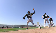 GLENDALE, AZ - FEBRUARY 23:  Jake Peavy #44 of the Chicago White Sox pitches during a spring training workout on February 23, 2010 at the White Sox training facility at Camelback Ranch in Glendale, Arizona. (Photo by Ron Vesely)
