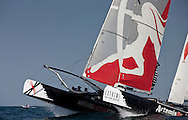 Extreme Sailing Series 2011. Leg 1. Muscat. Oman.Artemis Racing during a practice day