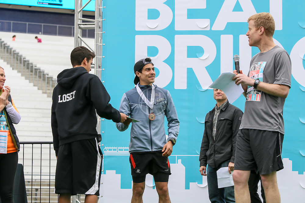 33rd Annual Nordstrom Beat the Bridge Run award winners - men's division.