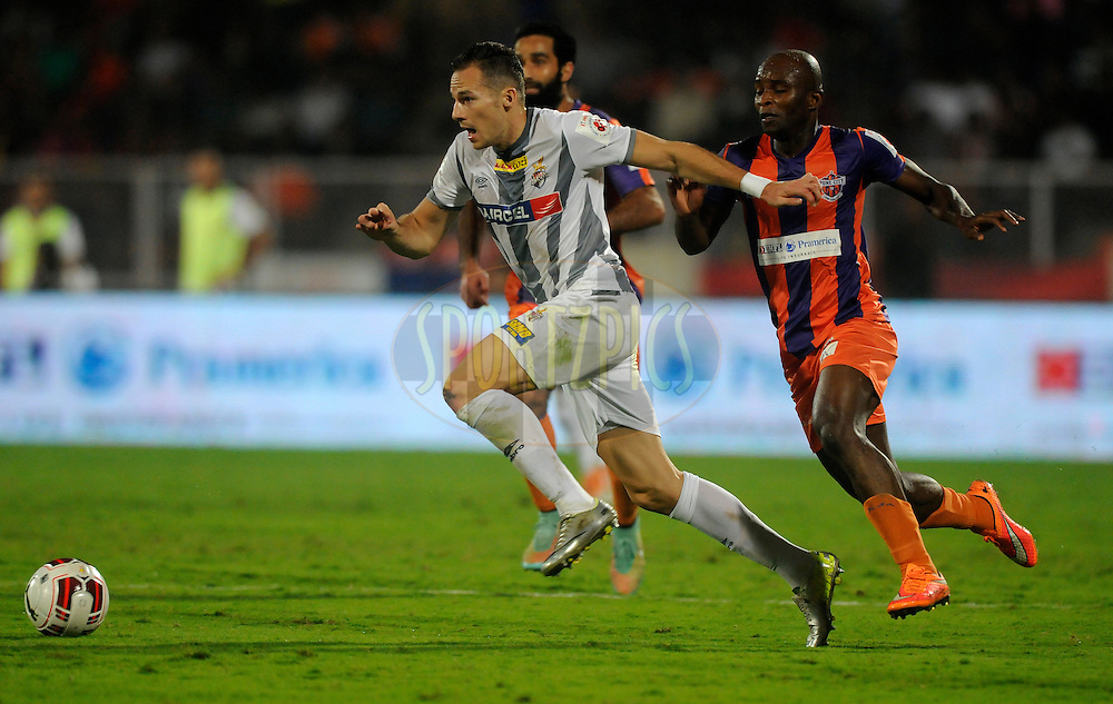 Jakub Podany of Atletico de Kolkata during match 44 of the Hero Indian Super League between FC Pune City and Atletico de Kolkata FC held at the Shree Shiv Chhatrapati Sports Complex Stadium, Pune, India on the 29th November 2014.<br /> <br /> Photo by:  Pal Pillai/ ISL/ SPORTZPICS