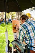 Quick Draw Art Show, Riverfront Park, Miles City Bucking Horse Sale, Montana, Robert Spannring, artist