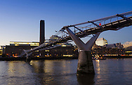 Sunrise over the River Thames and The Tate Modern and Millennium Bridge, London, Britain - 14 Jan 2016 <br /> SME
