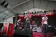 Cold War Kids featuring Nathan Willett (vocals, piano, guitar), Jonnie Russell (guitar), Matt Maust (bass guitar), and Matt Aveiro (drums)performs during the second day of the 2007 Bonnaroo Music & Arts Festival on June 15, 2006 in Manchester, Tennessee. The four-day music festival features a variety of musical acts, arts and comedians..Photo by Bryan Rinnert