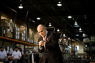 Former New York City mayor and presidential candidate Rudy Giuliani speaks to supporters at a Segway manufacturing facility in Bedford, N.H., on Thursday, Jan. 3, 2008.