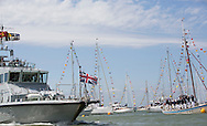 Image licensed to Lloyd Images<br /> The Royal Yacht Squadron Fleet Review. Cowes. Isle of Wight. UK. As part of 200th anniversary of the Royal Yacht Squadron. HRH The Duke of Edinburgh views the fleet moored in Cowes<br /> Credit - Lloyd Images