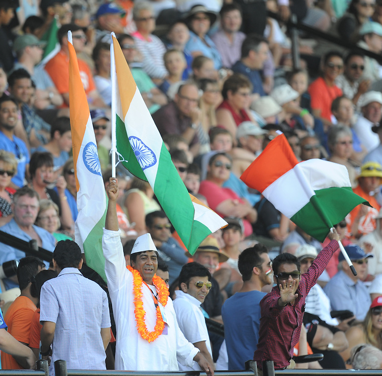 Indian fans at the New Zealand v India first one day International cricket match, McLean Park, New Zealand, Sunday, January 19, 2014. Credit:SNPA / Ross Setford