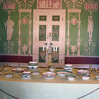 Europe, Russia, Pushkin. Green Dining Room of Catherine Palace.