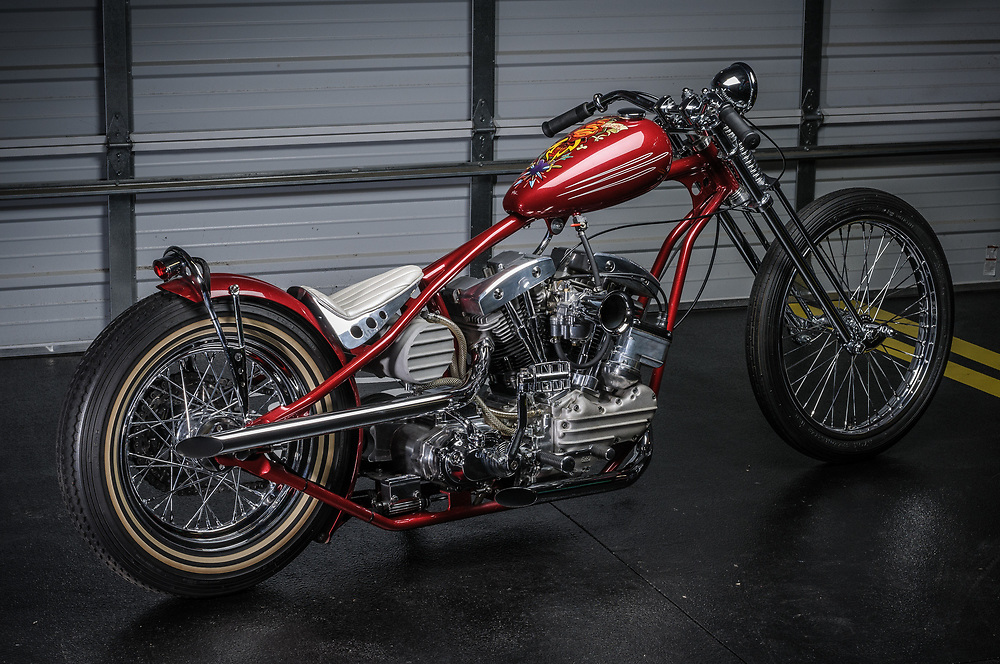 Stretched flathead chopper | personal collection of James Hetfield