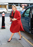 19-1-2015 LONDON - Queen Maxima arrives at the America Square Conference Centre in London for het Speech at the  Financial Inclusion: The Next Move Forward convention . COPYRIGHT ROBIN UTRECHT