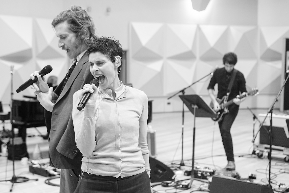 Images of iOTA, Tim Rogers, Steve Kilbey, Deborah Conway, Adalita, and Jack Ladder rehearsing at Trackdown Studio, in preparation for David Bowie Nothing Has Changed with the Sydney Symphony Orchestra. The band are Ashley Naylor, Clayton Doley, James Haselwood, Davey Lane and Laurence Pike, with vocalists Robyn Loau and Jade McRae.<br /> <br /> Photos by Robert Catto, taken on Wednesday 4  May, 2016.