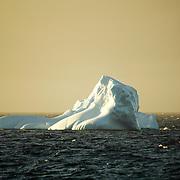 Iceberg floating in the Antarctic sea