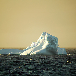Iceberg floating in the Antarctic sea