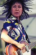Deerhoof perform at the Pitchfork/Intonation Music Festival in Chicago's Grant Park.