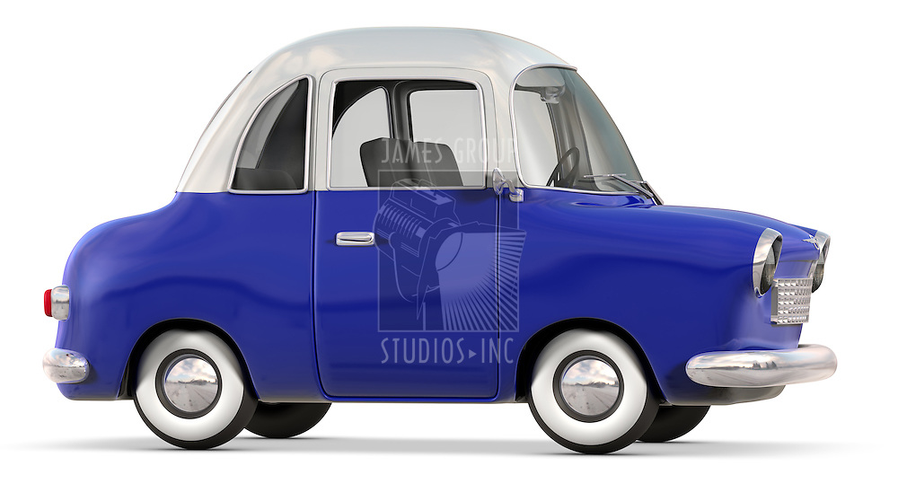 A Toon Styled Car isolated on white and clipping path is included!