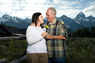PHOTO BY PRICE CHAMBERS.Jim and Lisa Jennings at Chapel of the Transfiguration in Grand Teton National Park on July 17, 2011.