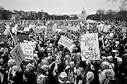 Hundreds of thousands of people gather on the National Mall on January 21, 2017 in Washington, for the Women's March on Washington.  Photo by Pete Marovich/UPI