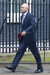 Downing Street, London, December 13th 2016. Communities and Local Government Secretary Sajid Javid arrives at the weekly meeting of the cabinet at Downing Street, London.