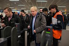 FEB 05 2014 Boris on the Tube during Tube strike