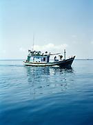 Fishing boat at sea.