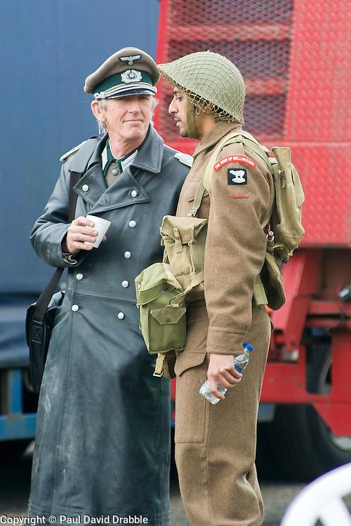 AA Filming  -  Real Actors Not Reenactors<br /> <br /> 25 April  2015<br />  Image &copy; Paul David Drabble <br />  www.pauldaviddrabble.co.uk