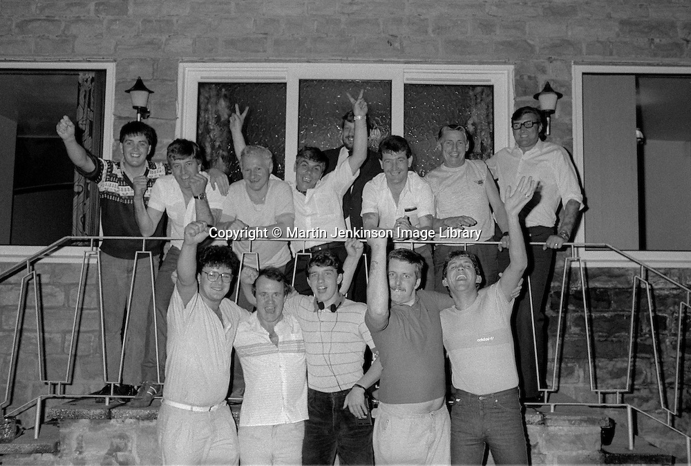 Orgreave riot trial defendants celebrate after aquittal.