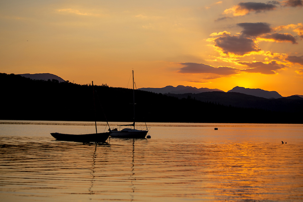 Sunset Over Lake Windermere